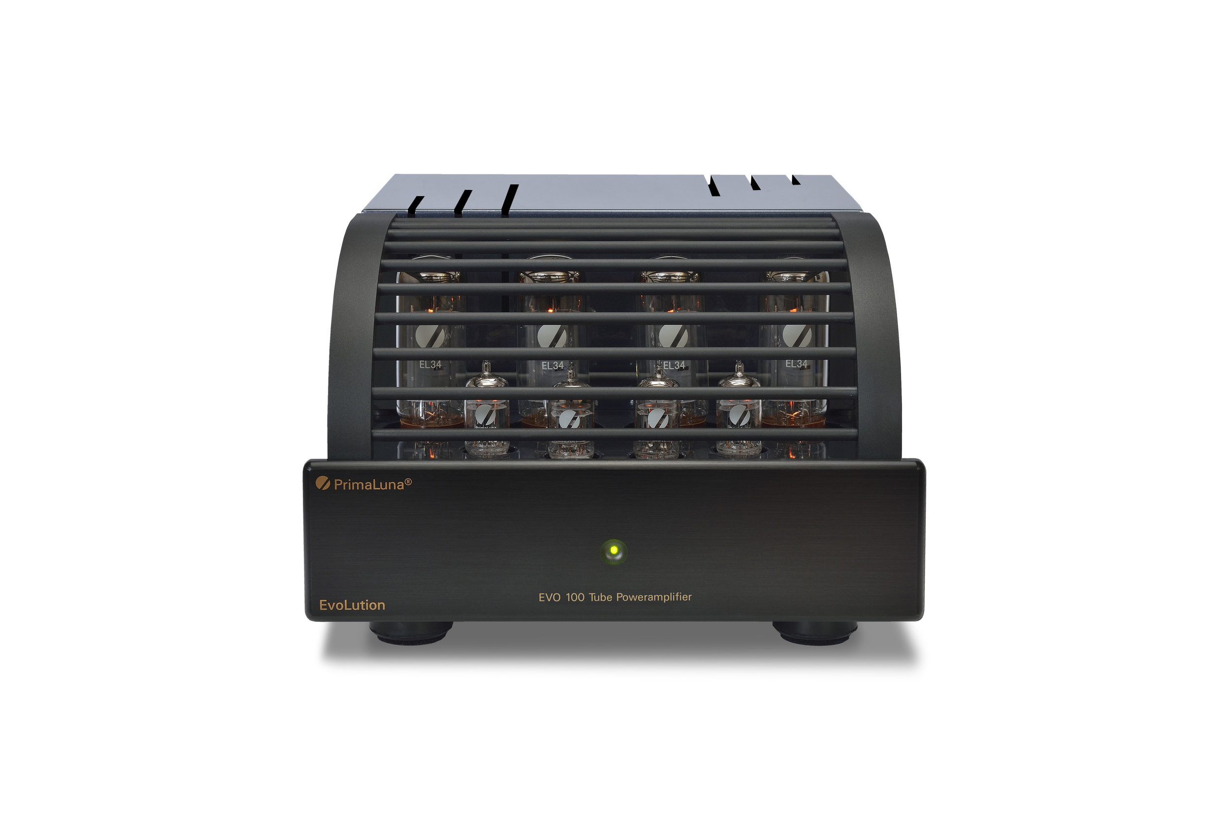 121b - PrimaLuna EVO 100 Tube Poweramplifier - black - front - white background.jpg