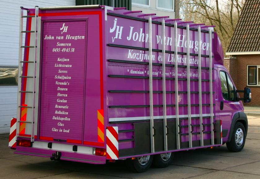 Glasrestelen truck paars