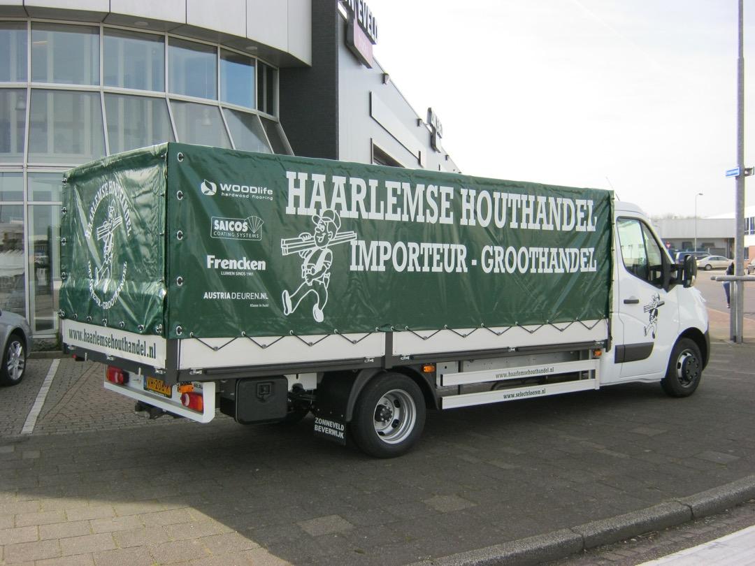 Huifgesloten opbouw voor Haarlemse Houthandel Haarlem