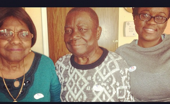 Early Voting with my grandparents, October 2012 in Maryland. RIP to my grandpa.