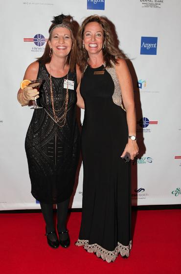 Valerie Phillps, left, Stephanie Williamson, right