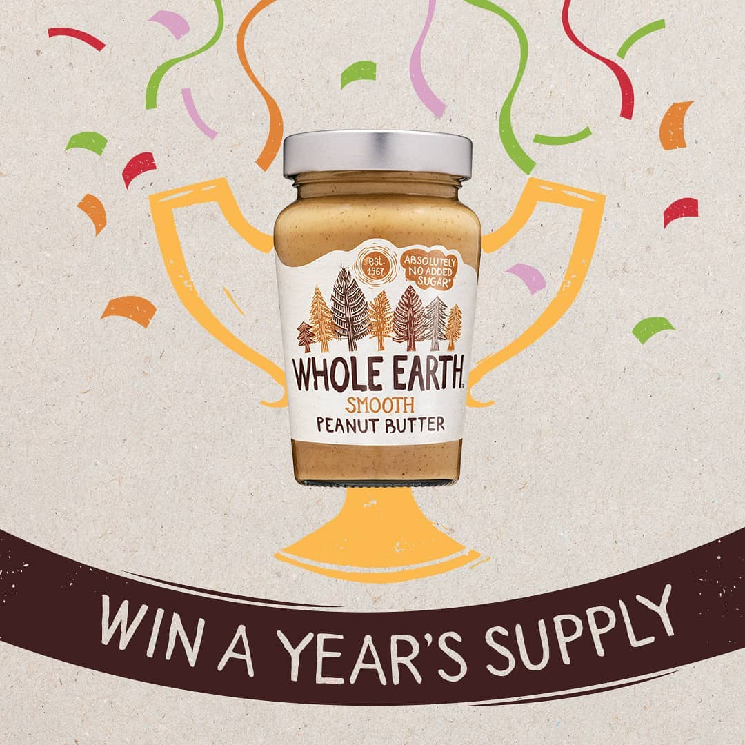 Win a year's supply of Whole Earth for both you and a friend 😆