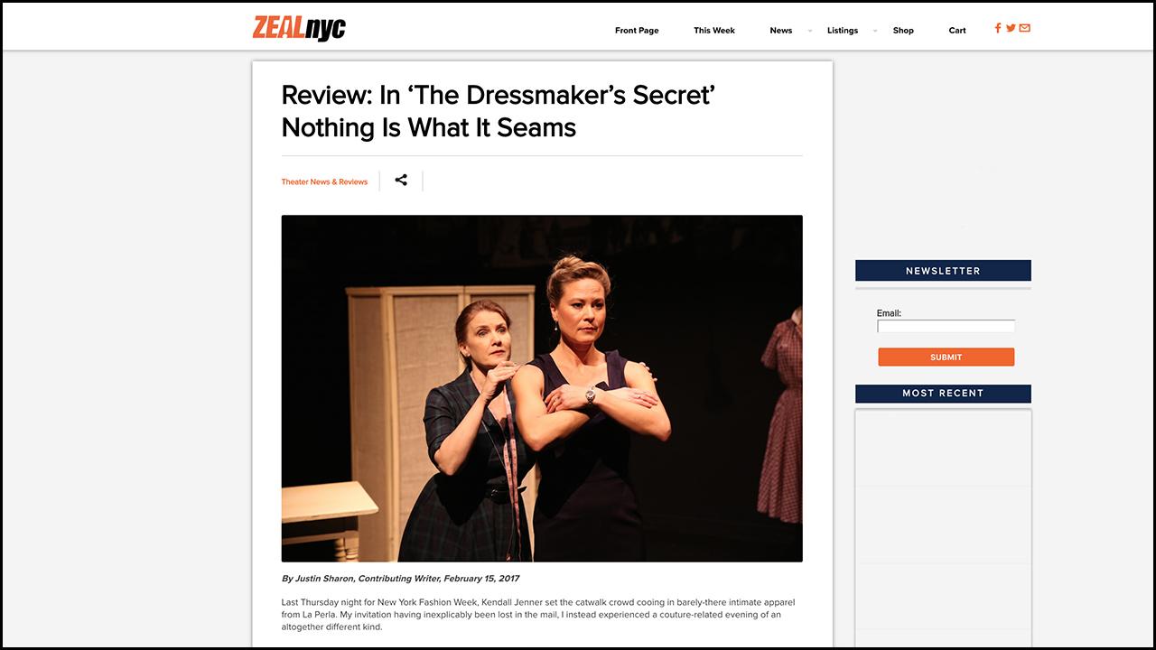 Review: In 'The Dressmaker's Secret' Nothing Is What It Seams  ZEALnyc