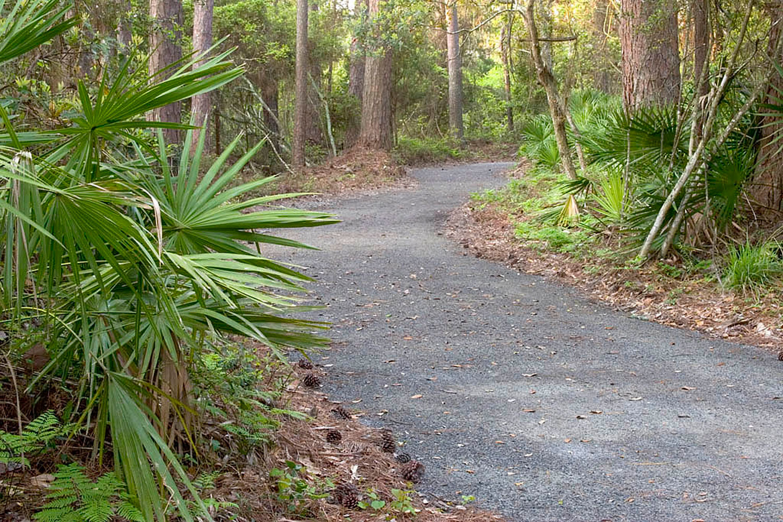 Pervious multi-use trail, jekyll island, ga