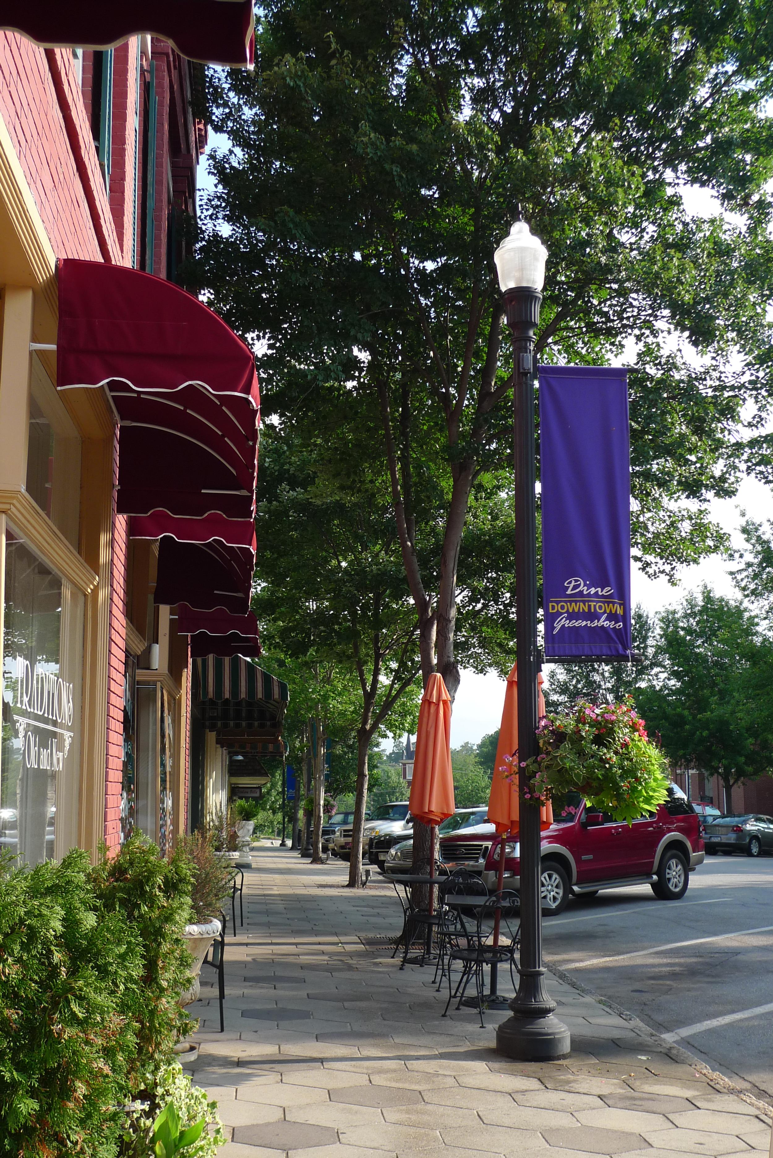 greensboro downtown streetscape