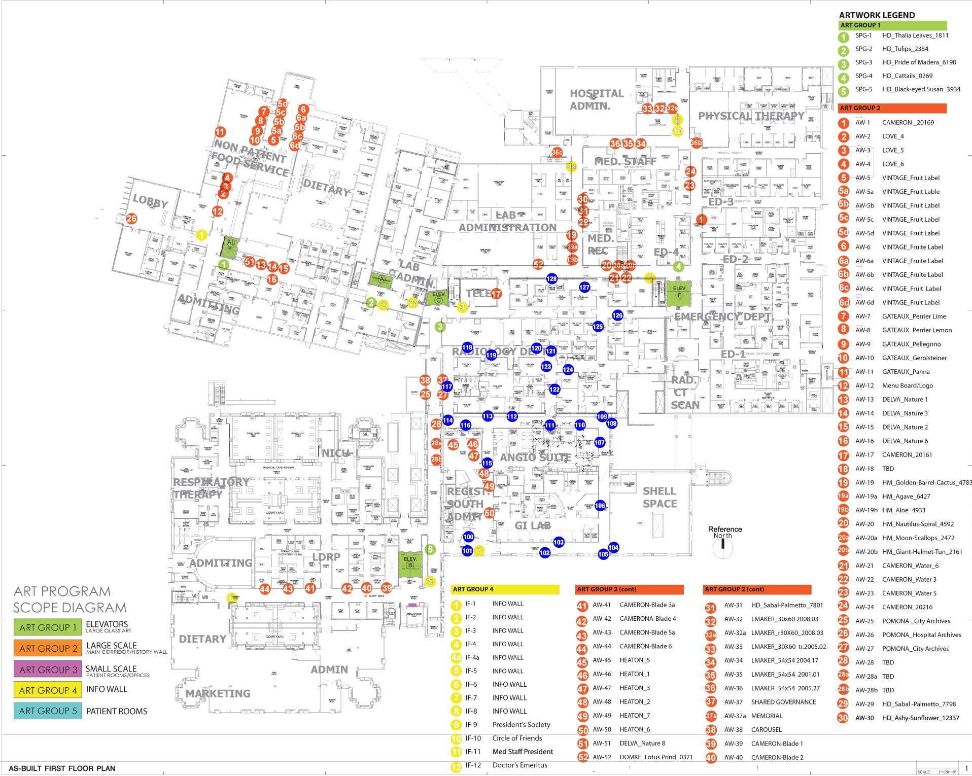 Art Location Plan: Click to view larger
