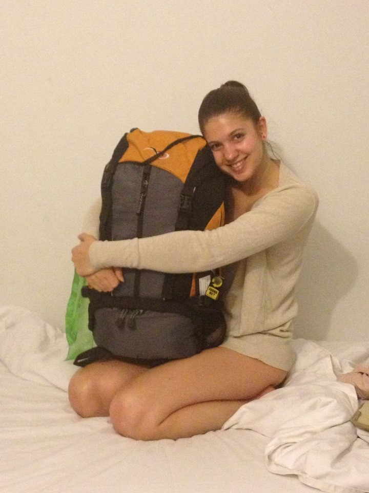 Backpack cuddle!