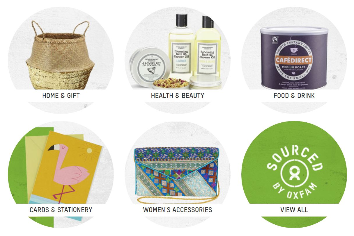 As well as accessories, they have different categories
