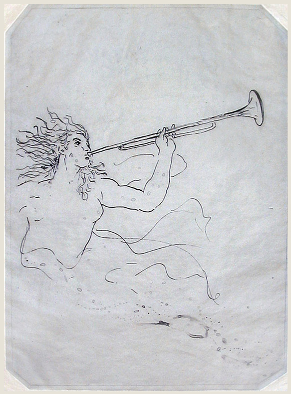 "Jublilee: 1.20.09 (after Tiepolo);  monoprinted intaglio; 16 x 11 5/8""; 2009"
