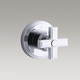 VIR STIL  3-Way transfer valve trim with cross handle by Laura Kirar  P24183-CR-CP