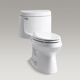 CIMMARON  Comfort Height® one-piece elongated 1.28 gpf toilet with AquaPiston  K-3828-0
