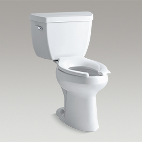 HIGHLING CLASSIC  Comfort Height® two-piece elongated 1.0 gpf toilet with Pressure Lite®  K-3519-0