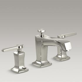 MARGAUX®  Widespread bathroom sink faucet with lever handles  K-16232-4-SN