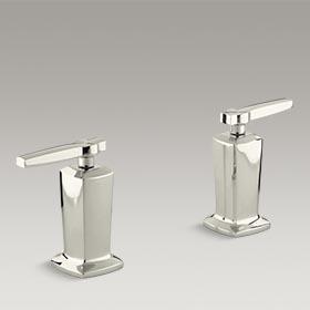MARGAUX®  Valve trim with lever handles for deck-mount high-flow bath valve  K-T16248-4-SN