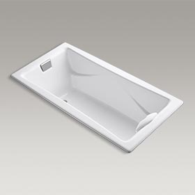 """TEA-FOR-TWO®  72"""" x 36"""" drop-in bath with reversible drain and Safeguard® finish  K-863-0"""