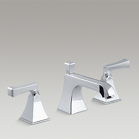 MEMOIRS®  Widespread bathroom sink faucet with Deco lever handles  K-454-4V-CP