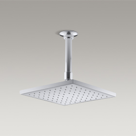 """CONTEMPORARY  8"""" Square Rainhead with Katalyst Air-Induction Spray  K-18360IN-CP"""