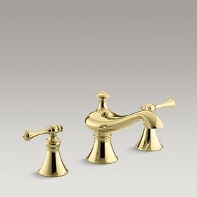 """REVIVAL®  Bath-mount faucet trim for high-flow valve with 6-5/8"""" spout  K-T16122-4A-PB"""