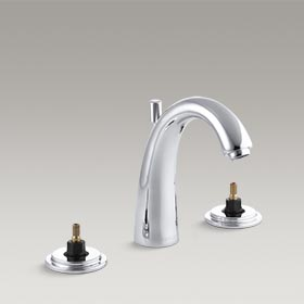 TABORET®  Widespread bathroom sink faucet with high arch spout  K-8215-K-CP