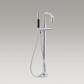 PURIST  Floor-Mount Bath Filler  K-10129T-4-CP