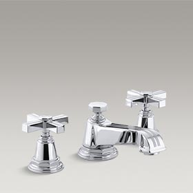 PINSTRIPE®  Widespread bathroom sink faucet with cross handles  K-13132-3B-CP