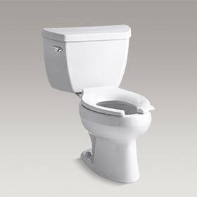 WELLWORTH® CLASSIC   Two-piece elongated 1.0 gpf toilet with Pressure Lite®  K-3531-0