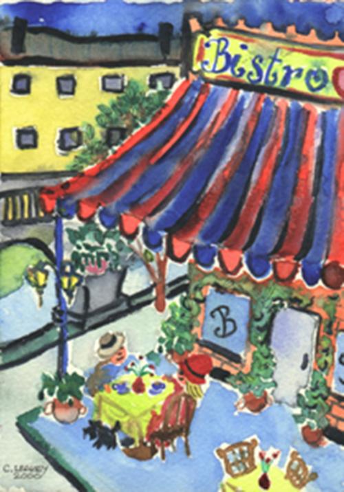 Bistro   2000 watercolour on paper