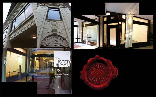 From 2013 to 2014, my visual art and illustrative works were available for purchase on my own wall space at Lister Arts in Hamilton's James North Arts district within Canada's oldest arcade, the Lister Block. Buyers of my art during that time were from the Netherlands, Zimbabwe and Canada.