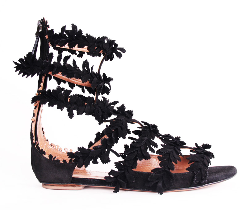 <b>Our price $399</b>, regularly $2495<br>Azzedine Alaia Vine Sandals
