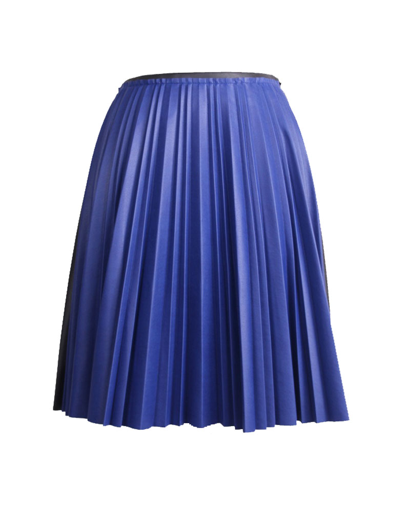 <b>Our price $199</b>, regularly $1095<br>Cedric Charlie Pleated Leather Skirt