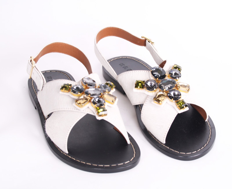 <b>Our price $399</b>, regularly $580<br>Marni Jeweled Sandals