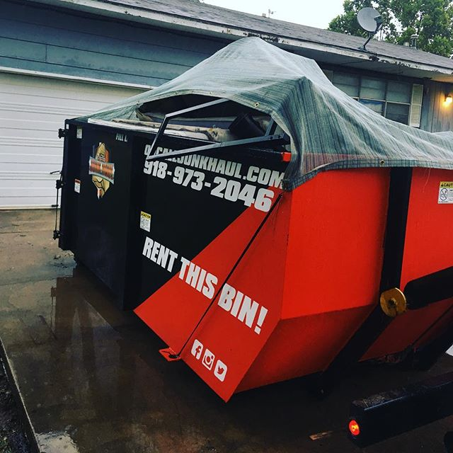 When it's raining you don't make two trips! 918-973-2046 #ocjh #oncalljunkhaul #godisgood