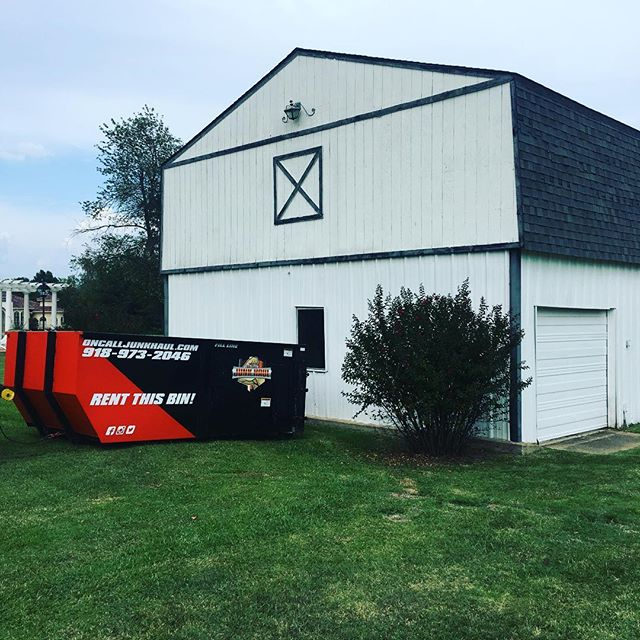 Time to clean out the barn! Need some space before the winter hits? Give us a call at 918-973-2046! #ocjh #oncalljunkhaul #tulsa #dumpster #Godisgood