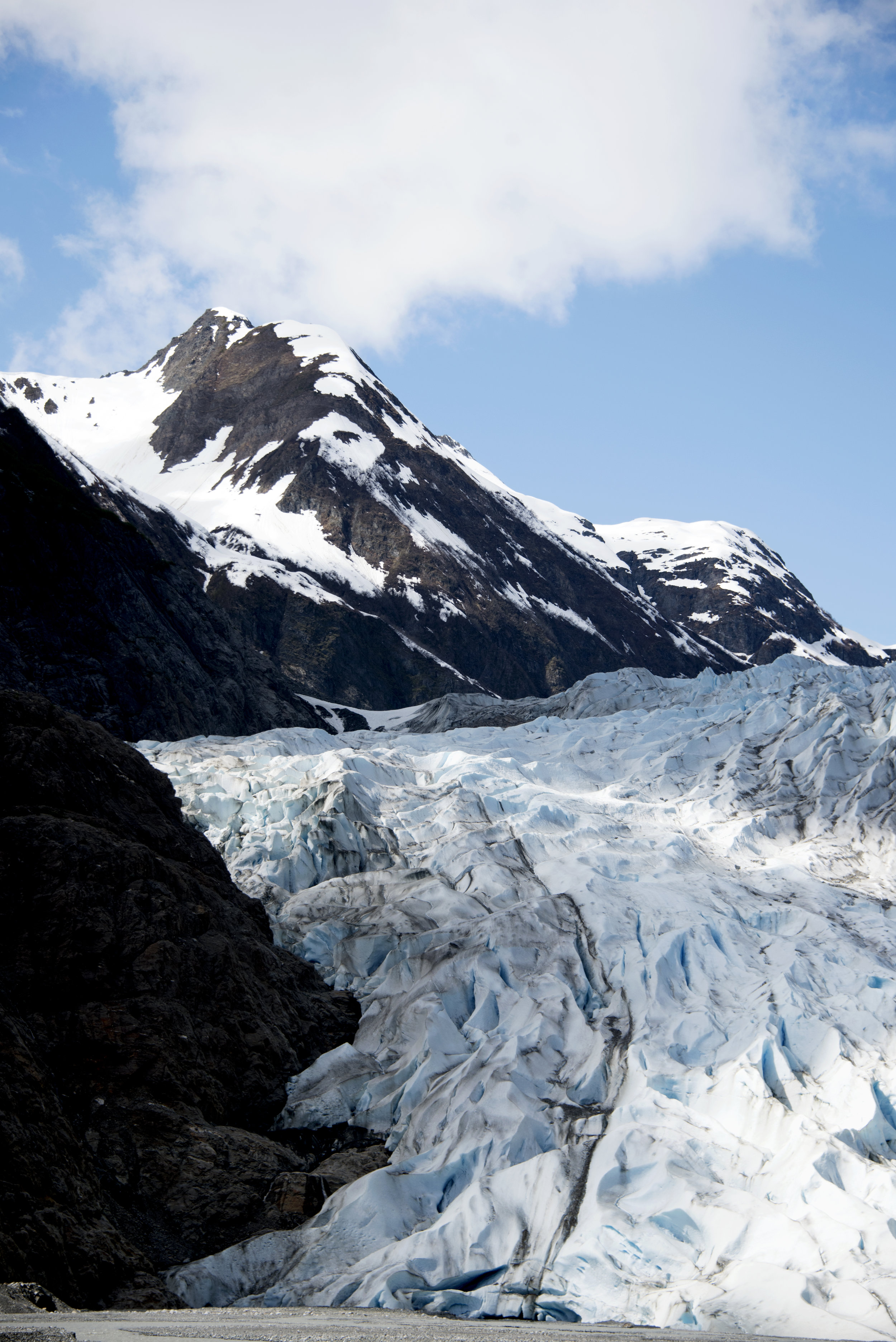 Davidson Glacier.  If I was standing in this spot 10 years ago I'd be inside of the glacier.