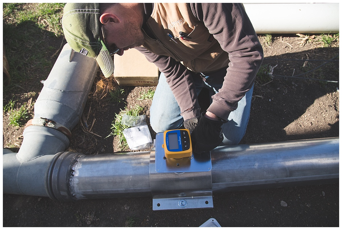 Nebraska farmer installing water meters