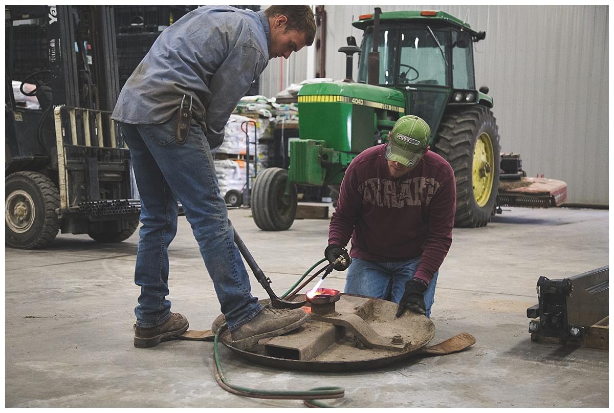 farmers working in shop