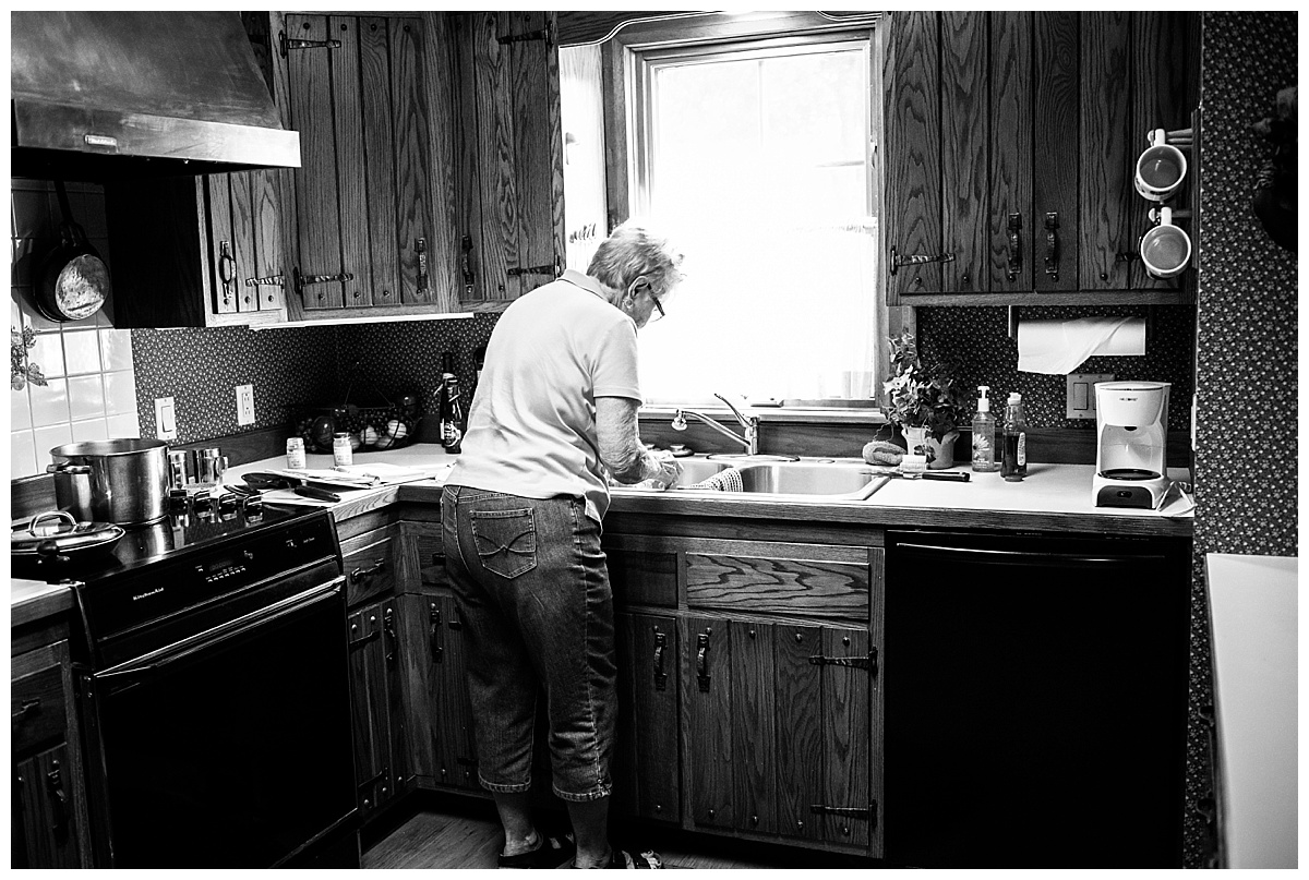 grandma in her kitchen