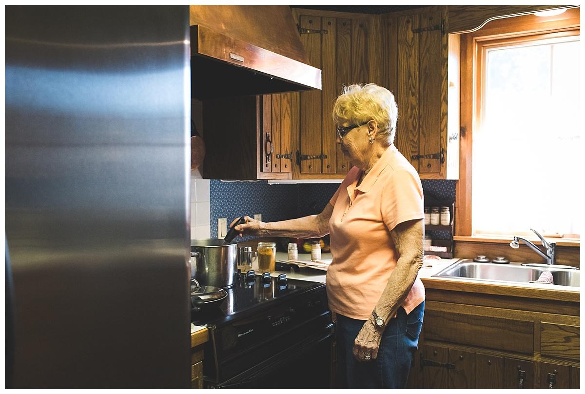 grandma in her farm kitchen