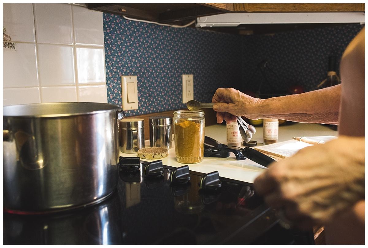 grandma making curry