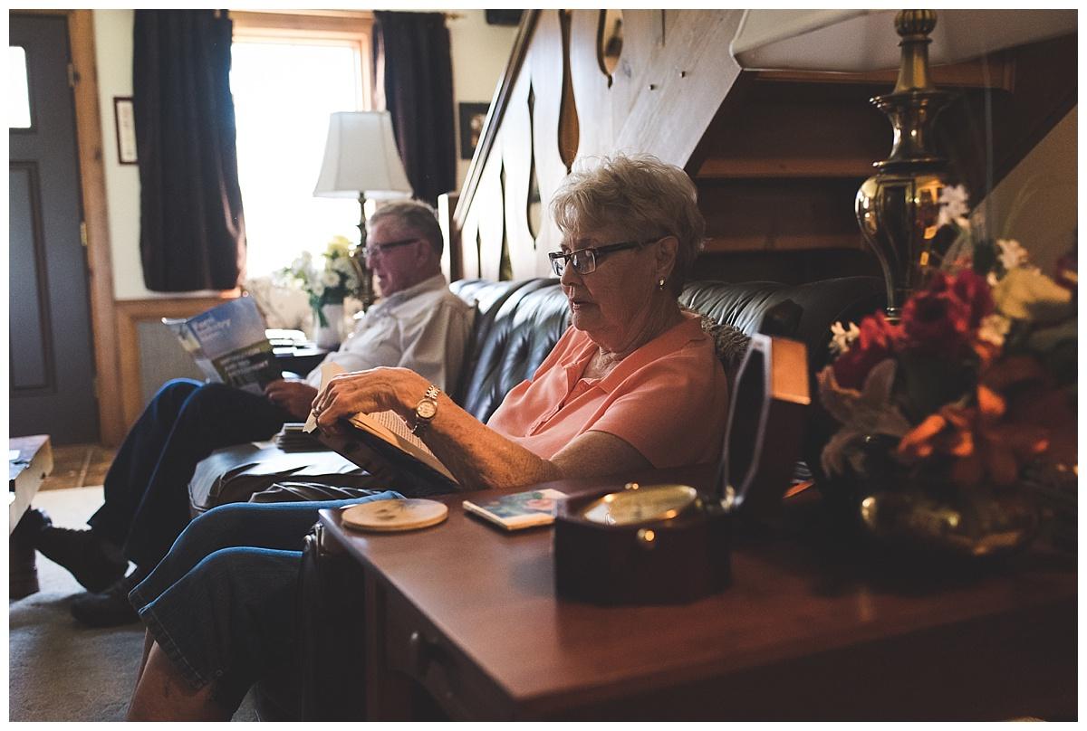 documentary photography//grandma reading