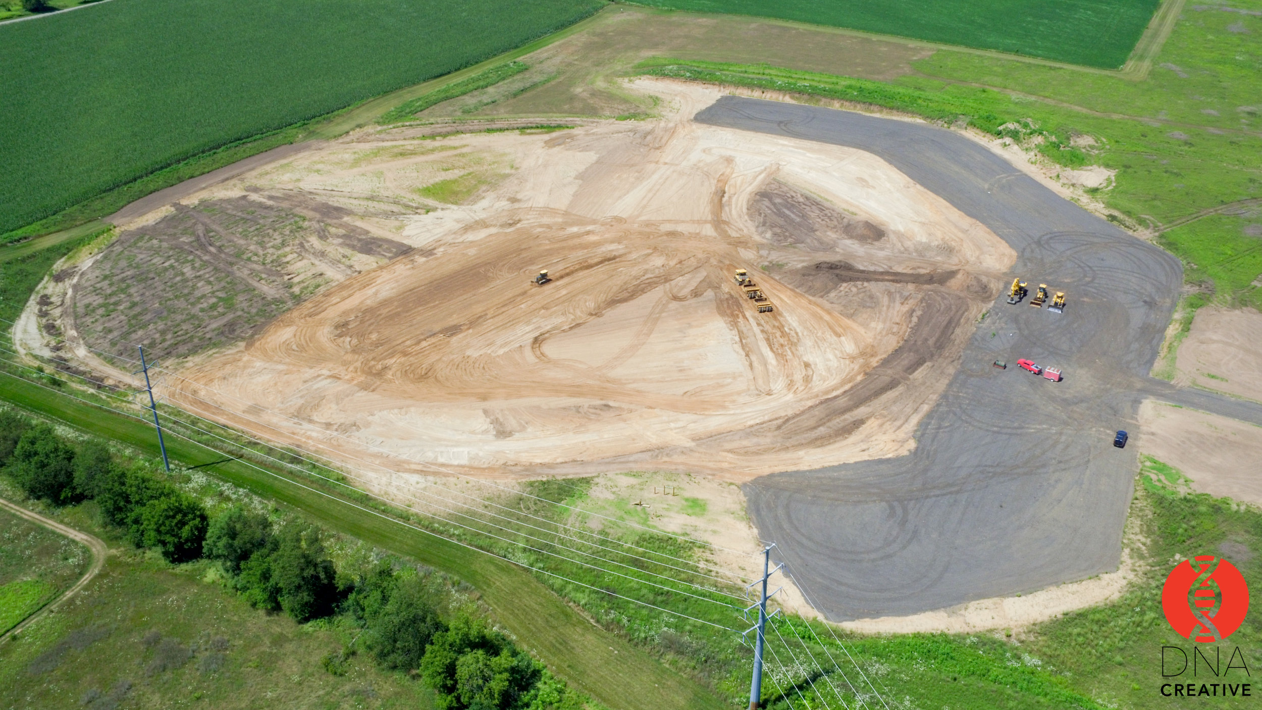 Excavation begins on four baseball/softball fields to be ready for play in fall 2019.