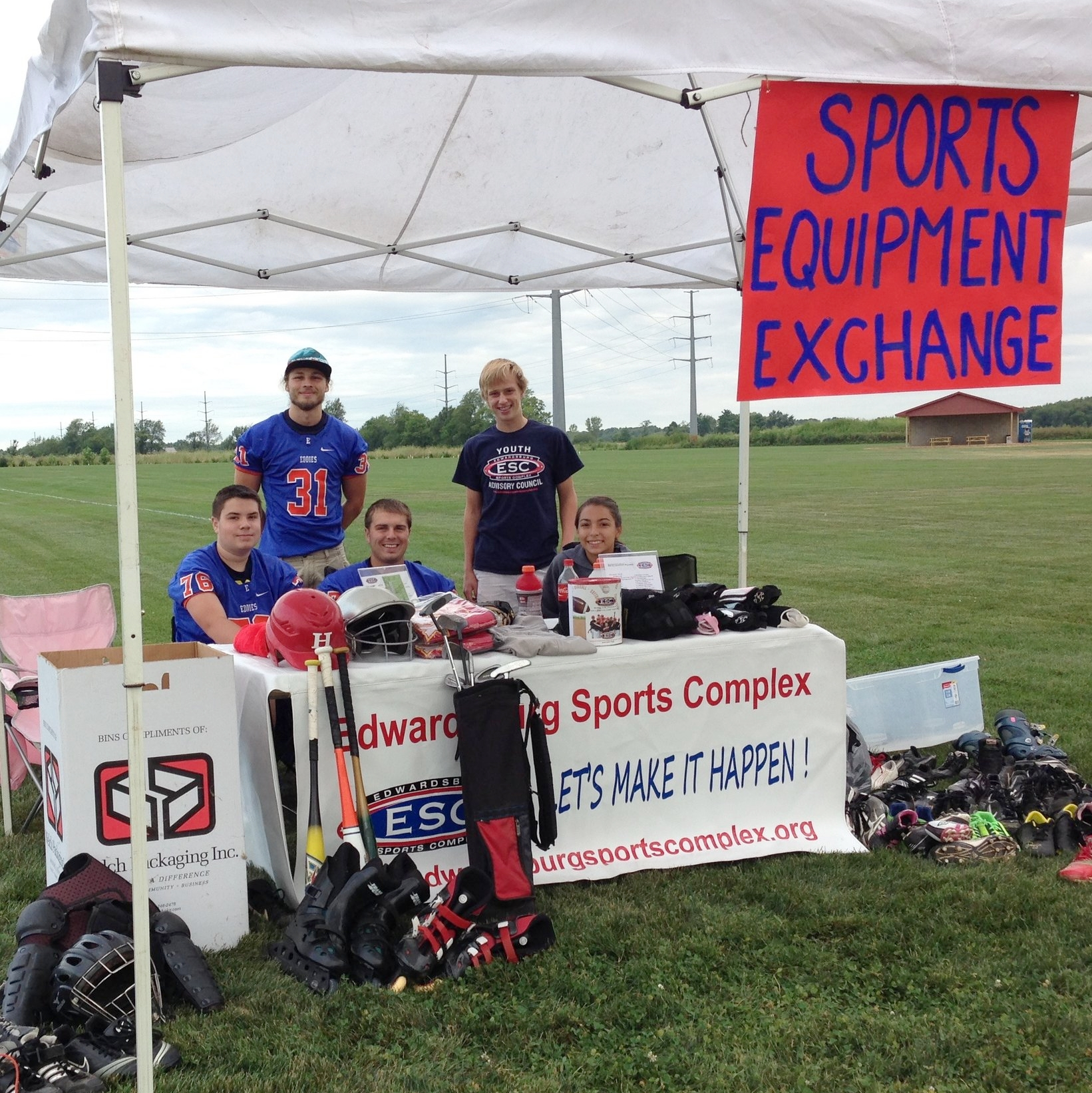 Sports Equipment Exchange booth at the 2015 U.S. 12 Garage Sale.
