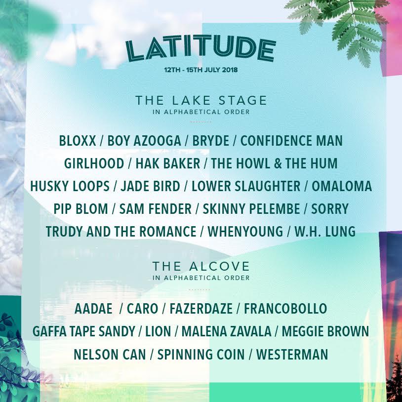 Bryde plays Lattitude 2018 on Lake Stage