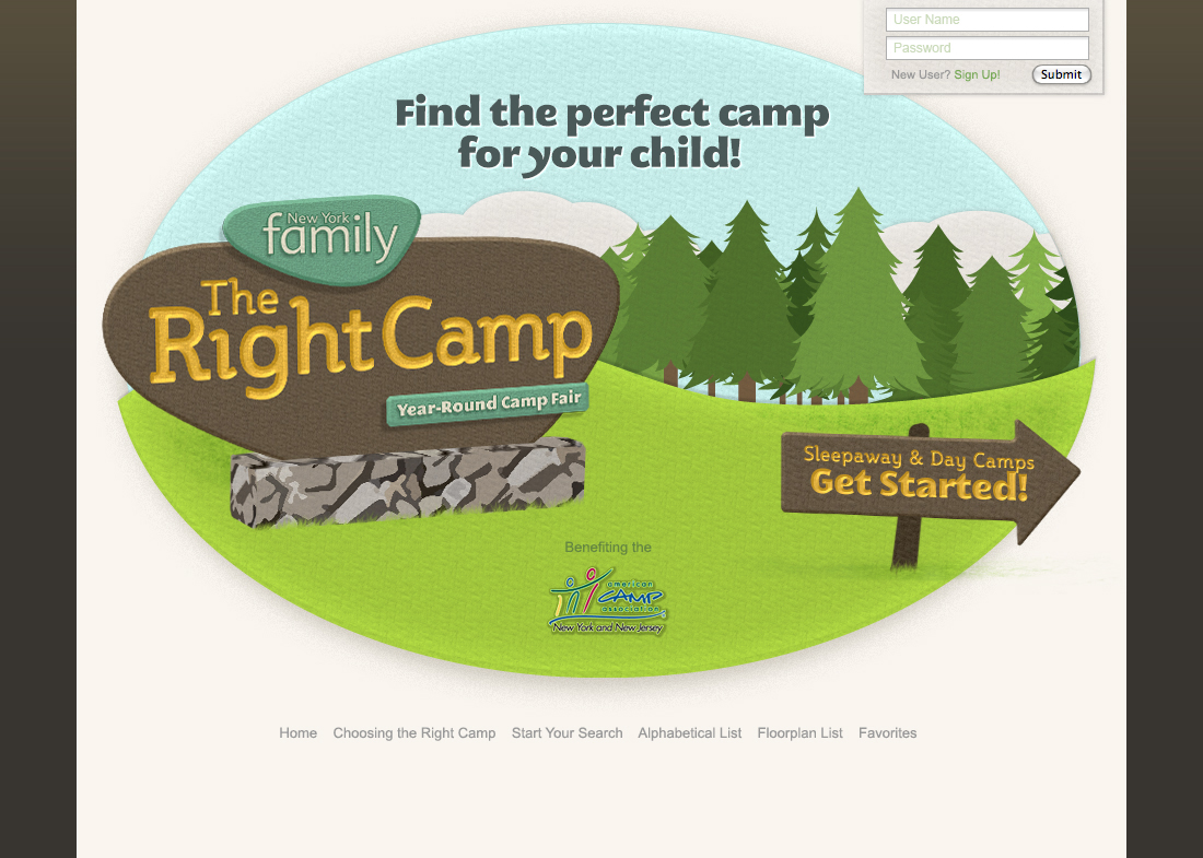 Camp locator for the New York area