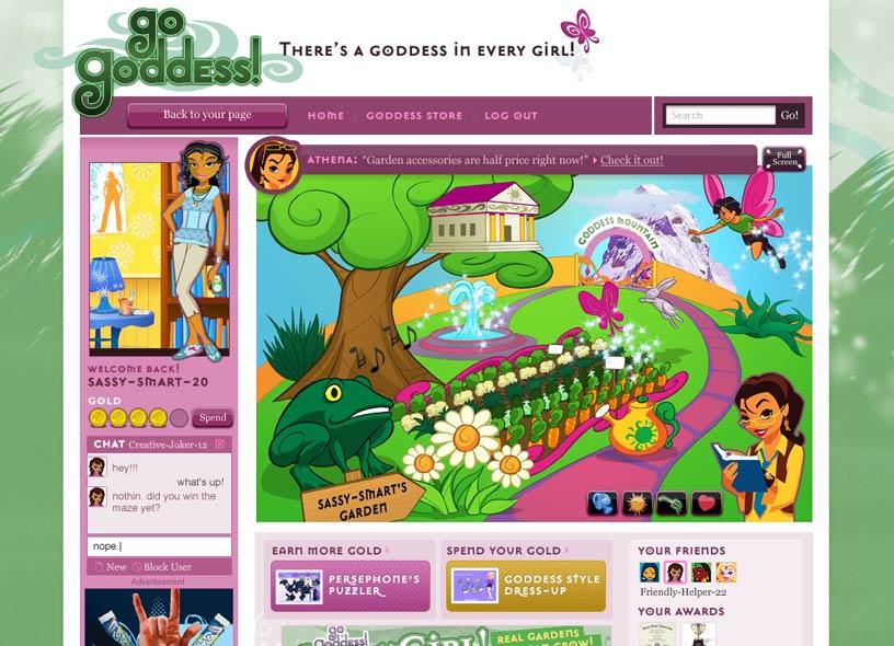 Girls' gaming site
