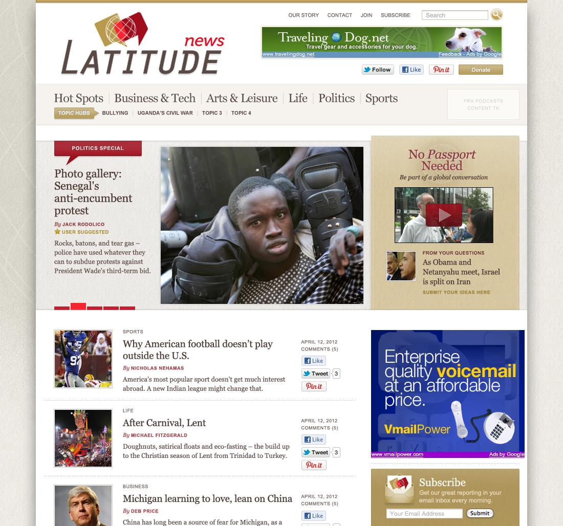 World news site