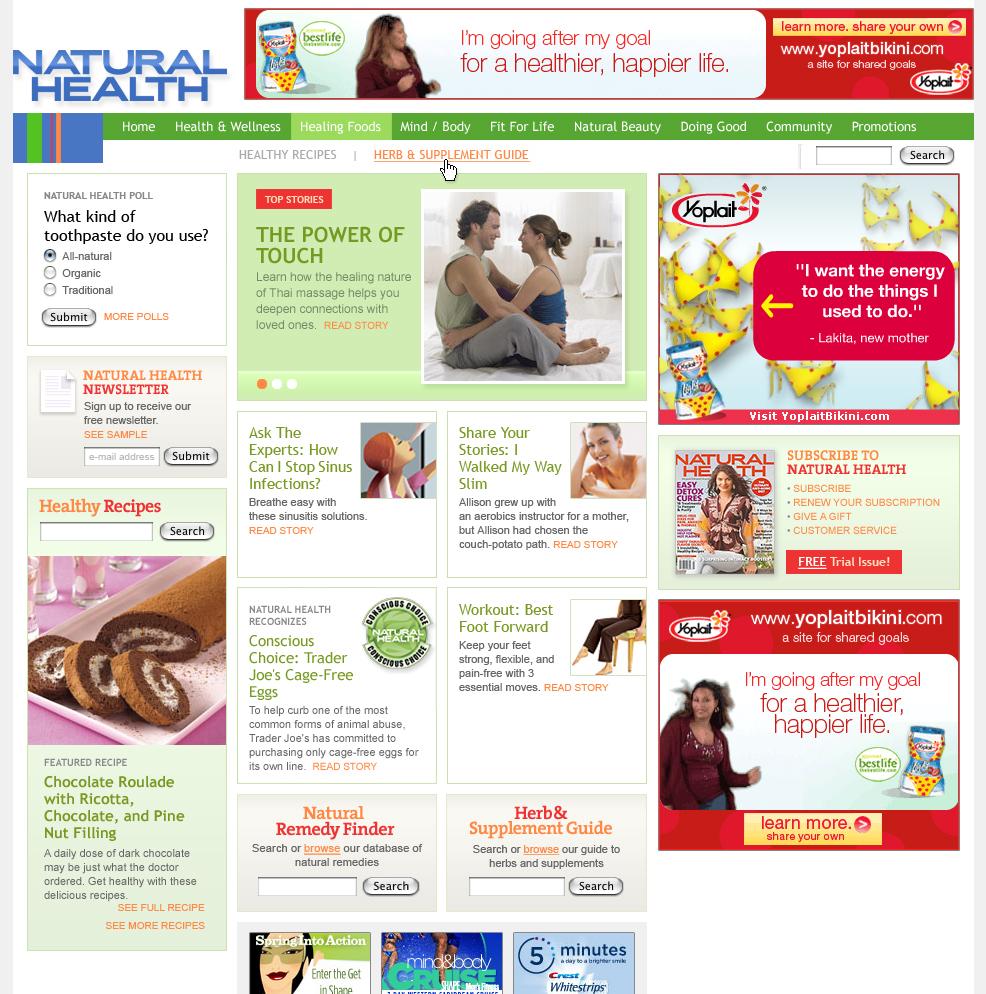 Health magazine's site