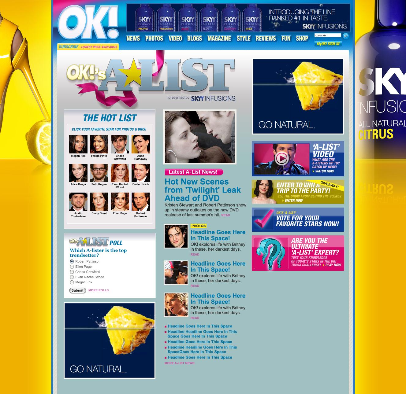 Ad partner takeover design
