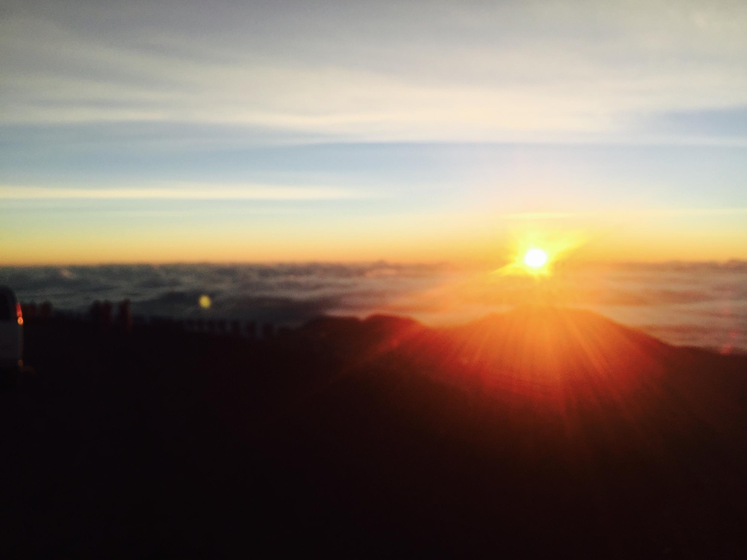 Sunrise from Mauna Kea