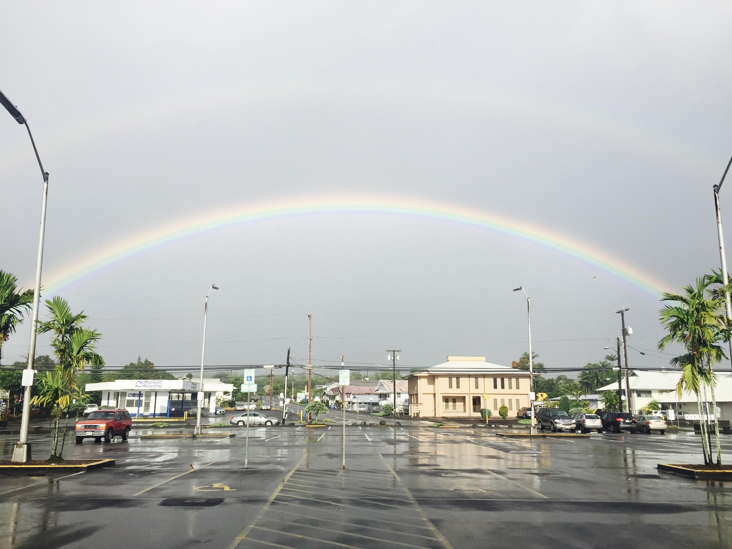 Double Rainbow Across Hilo Town